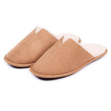 totes Mens Suedette Mule Slippers