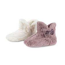 totes Ladies Textured Fur Booties
