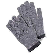 totes Mens Original Stretch Gloves Grey