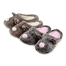 totes Ladies Novelty Mule Slippers