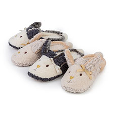 totes Ladies Novelty Rabbit Mule Slippers