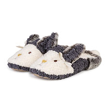 totes Ladies Novelty Rabbit Mule Slipper