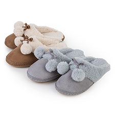 totes Ladies Suedette Mule Slippers