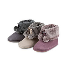 totes Ladies Suedette Fur Booties