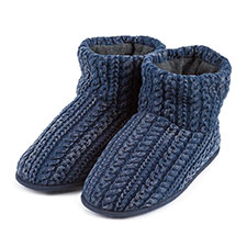 totes Mens Acid Wash Cable Booties