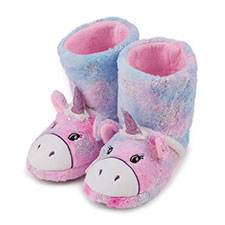 totes Childrens Unicorn Slipper Boot