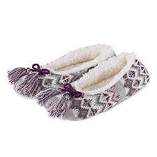 totes Ladies Fair Isle Ballet Slippers