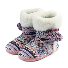 totes Ladies Fair Isle Booties