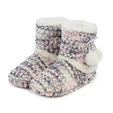 totes Ladies Bobble Knit Booties