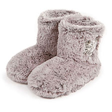 totes Ladies Fur Bootie With Snowflake Design Slippers
