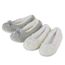 totes Ladies Lurex Sequin Knit Ballet Slippers