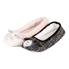 totes Ladies Novelty Ballet Slippers