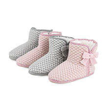 totes Ladies Waffle Knit Booties