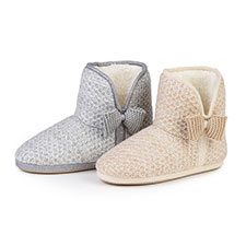 totes Ladies Lurex Sparkle Knit Booties