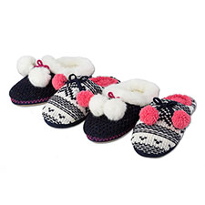 totes Ladies Chunky Knit Mule Slippers