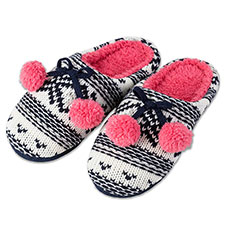totes Ladies Chunky Knit Mule Slipper