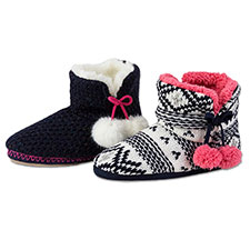 totes Ladies Chunky Knit Booties