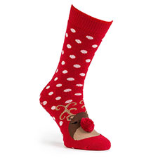 totes toasties Ladies Single Original Socks Reindeer