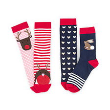 totes Ladies 2 Pack Cracker Socks