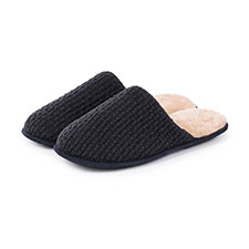 totes Mens Textured Mule Slippers
