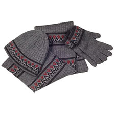 isotoner Mens Fair Isle Knit Collection