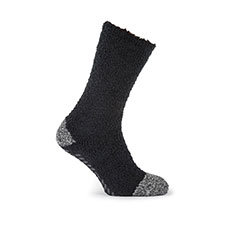 totes Mens Supersoft Socks (Twin Pack)  Black/Grey