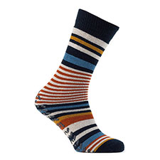 totes toasties Mens Original Slipper Socks (Single Pack) Stripe