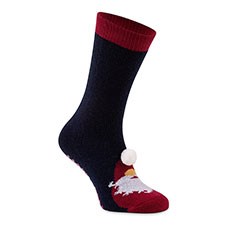totes toasties Mens Single Original Slipper Socks Santa