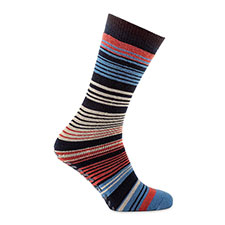 totes toasties Mens Single Original Slipper Socks Stripe