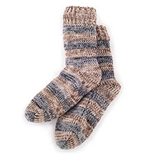 totes Mens Spaced Yarn Slipper Socks