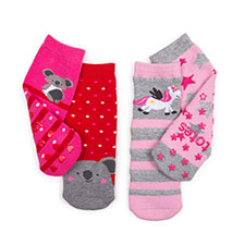 totes Girls Tots Slipper Socks (Twin Pack)