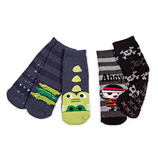 totes Boys Tots Slipper Socks (Twin Pack)