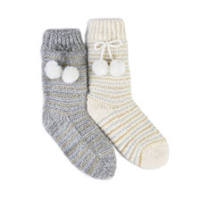 totes Ladies Fluffy Slipper Socks