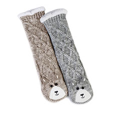 totes Ladies Chunky Novelty Slipper Socks