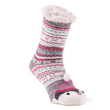 totes toasties Ladies Novelty Chunky Slipper Sock Penguin