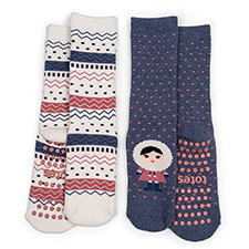 totes Girls Slipper Socks (Twin Pack)