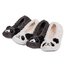 totes Ladies Novelty Knit Footsie Slipper Socks
