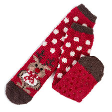 totes toasties Ladies Novelty Cosy Socks Reindeer