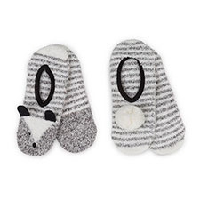 totes Ladies Novelty Cosy Footsies (Twin Pack)