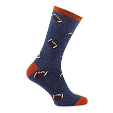 totes toasties Mens Single Day Sock Rugby