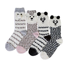 totes Ladies Supersoft Slipper Socks (Twin Pack)
