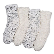 totes Ladies Soft Fluffy Sequin Bedsocks
