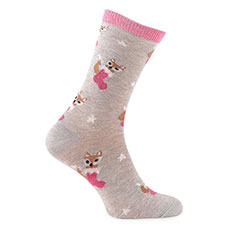 totes toasties Ladies Novelty Sock In Bauble Fox