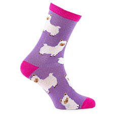 totes toasties Ladies Novelty Sock In Bauble Llama