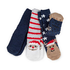 totes Childrens Christmas Cosy Socks (Triple Pack)