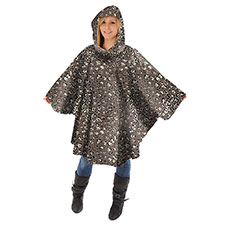 totes Leopard Print Poncho with Pocket
