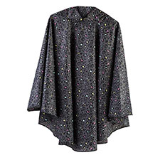 totes Fabric Poncho With Separate Pocket Multi Panther Print