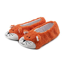 totes Childrens Novelty Fox Footsie Slippers