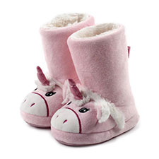totes Girls Novelty Unicorn Booties