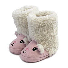 totes Childrens Novelty Sheep Slipper Bootie